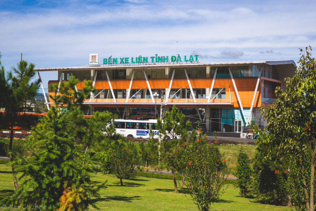 51. The bus station in Dalat.